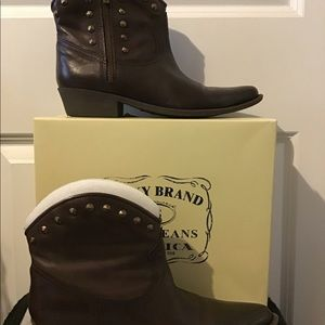 Lucky Brand Studded Cowboy Boots